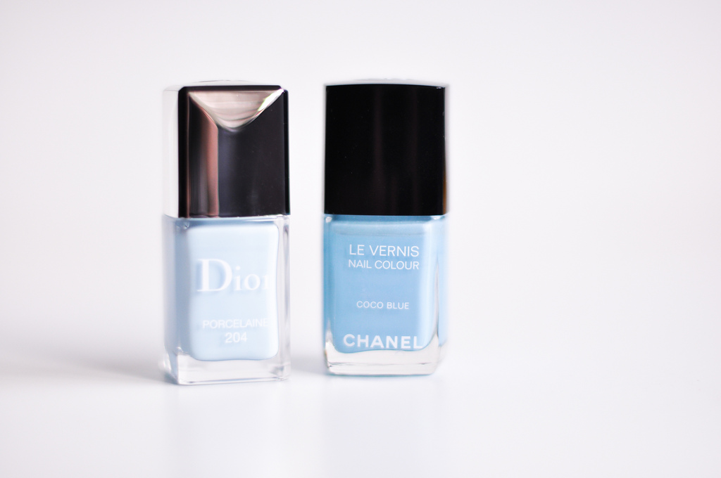 Dior Porcelaine Vs Chanel Coco Blue Once Over Lightly