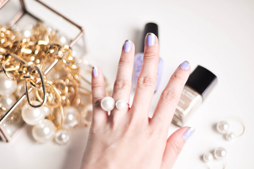 Lilac French Manicure for Modcloth